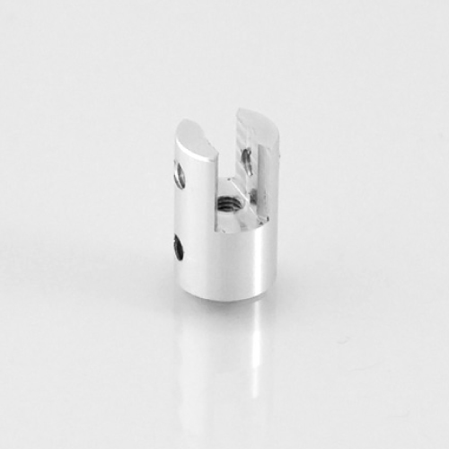 ALUMINIUM ACCESSORY, 13X15 MM (DXH), WITH SIMPLE HORIZONTAL MOUNTING, FOR 0,5-4 MM MATERIAL THICKNESS