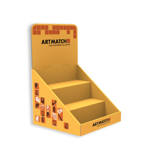 4 KG, CORRUGATED CARDBOARD DISPLAY 235x210x220+160 MM HEADER