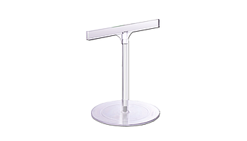 K-transparent stand with round base