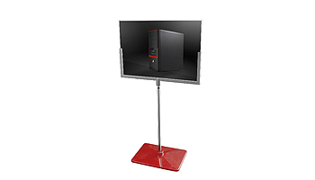 U-FRAME stand with plastic base