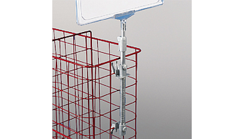 Spring stand for wire baskets