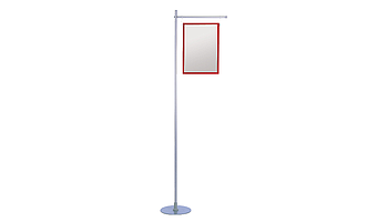 Aluminium stand with one or two arms