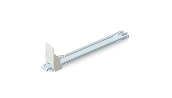 Slim pusher without front, sliding rail 380 mm length