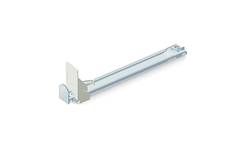 Slim pusher with front, sliding rail 380 mm length