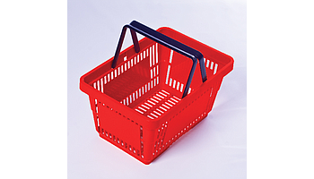 Plastic shopping baskets, various sizes