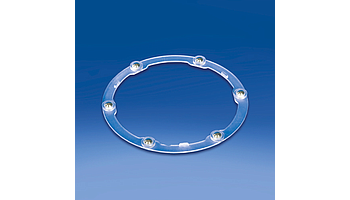Plastic bearings with metallic balls