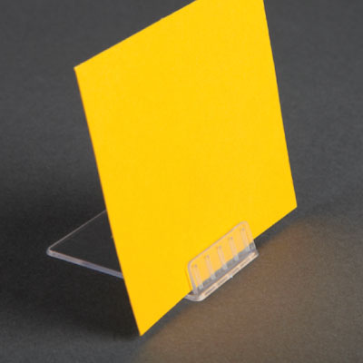 ANGLED CARD HOLDER, 40x60 MM