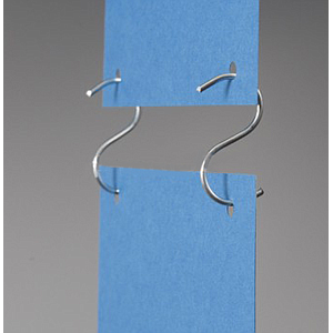 "METALLIC ""S"" HOOK OPEN, L 62,5 MM, 2,2 MM WIRE THICKNESS"