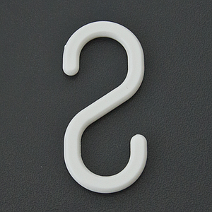 "PLASTIC ""S"" HOOK, L 55 MM"