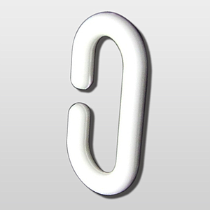 "PLASTIC ""C"" HOOK, L 60 MM"