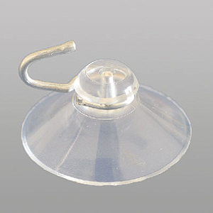 SUCTION CUP 40 MM D, WITH METAL HOOK