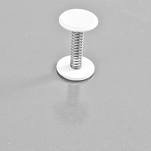 STOPPER WITH SPRING AND ADHESIVE ROUND BASES 20 MM D, 32 MM L