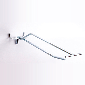 GALVANIZED SIMPLE HOOK WITH D 6 MM, 400 MM LENGTH AND UPPER LABEL HOLDER