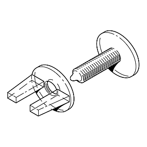 VIKING SCREW AND NUT PLASTIC SET FOR FASTENING 8 MM MATERIALS THICKNESS