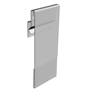 PVC POCKET WITH FLEXIBLE HINGE, PARALLEL DISPLAY, 73X100 MM (HXL)