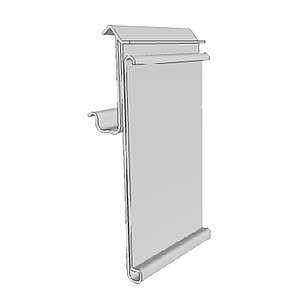 CEFLA PROFILE, 39X1000 MM, WITH SOFT HINGE AND GRIP