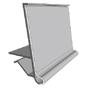 GLS-U PROFILE, 39X1000 MM, FOR MAX 10 MM SHELF THICKNESS