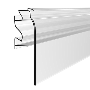 HERMES PROFILE, 39X1000 MM, SOFT HINGE AND LOWER BORDER, WITHOUT GRIP