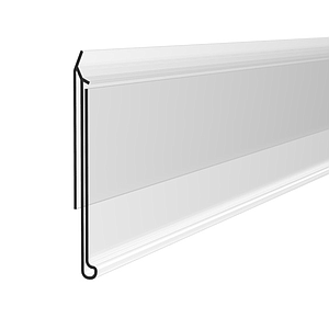 IPF-G SCANNING RAIL, 39X1000 MM, 33 MM EDGE WIDTH, WITHOUT GRIP, FOR C-SHAPED SHELVES EDGES