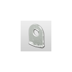 HANGING PLASTIC CLIP FOR CLICK PROFILE LPE 015-421, HOLE D 6,5 MM, 15X20 MM (LXH)