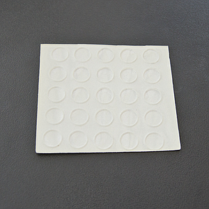BUMPER RUBBER SELF-ADHESIVE, FLAT CIRCULAR SHAPE, 1X8 MM