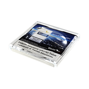 SQUARE GLASS CASH TRAY, 150X150X20 MM, 132X132 MM PRINT SIZE