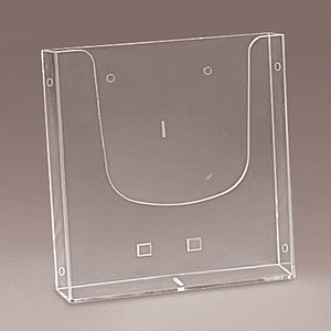 WALL PLASTIC LEAFLET DISPENSER A4P WITH LATERAL HOLES, USABLE BASE DIMENSION 235X40 MM