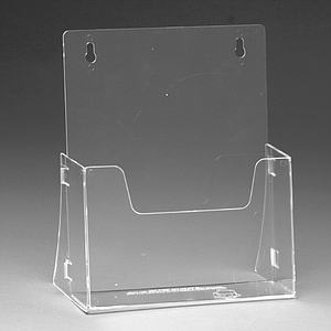 FOLDABLE PLASTIC LEAFLET DISPENSER FOR A5P, USABLE BASE DIMENSION 157X40 MM