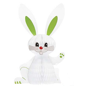 ORNAMENTAL EASTER BUNNY MADE OF PAPER, 380 MM HEIGHT