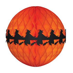 HALLOWEEN ORNAMENT MADE OF ORANGE PAPER 360 MM HEIGHT
