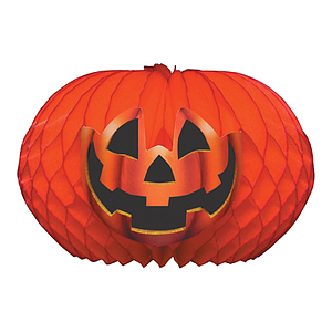 ORNAMENTAL PUMPKIN FOR HALLOWEEN, MADE OF PAPER, 200 MM HEIGHT