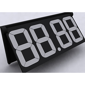 PP30 ARTICULATED MODULE BLACK, 36X80 MM, 4 DIGITS 30 MM H, WITH HOLDER AND POINT