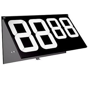 PP80 ARTICULATED MODULE BLACK, WITH 4 DIGITS: 2X80 MM, 2X60 MM, WITH HOLDER