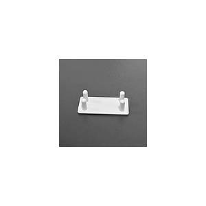 PLASTIC END CAP FOR POSTER RAIL, 20X40 MM, SUITS WITH ALUMINIUM PROFILE LPM 025-4760