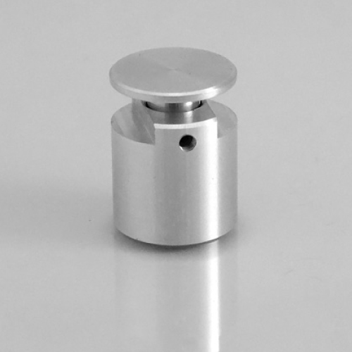 ALUMINIUM ACCESSORY, 20X20 MM (DXH)WITH DOUBLE MOUNTING, FOR 3-7 MM MATERIAL THICKNESS