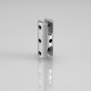 ALUMINIUM ACCESSORY, 10X24 MM (DXH), WITH DUBLE HORIZONTAL MOUNTING, FOR 0,5-4 MM MATERIAL THICKNESS