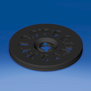 ROTARY DISK D 140 MM, H 12,8 MM, WITHOUT ADHESIVE