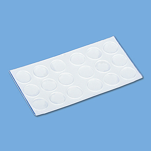 TRANSPARENT ADHESIVE DROPS 18X1 MM, 18 PADS / SHEET