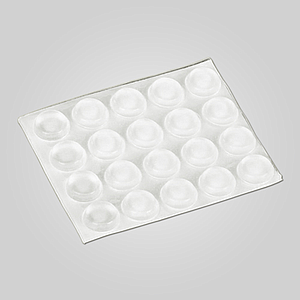 TRANSPARENT ADHESIVE DROPS 13X4 MM, 20 PADS / SHEET