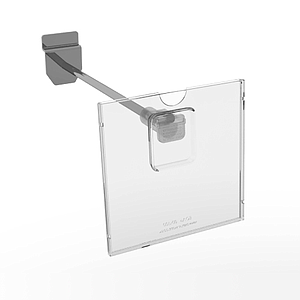REFLEX LABEL HOLDER, 100X100 MM, WITH MOUNTING ON THE END OF HOOKS