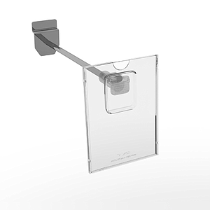 REFLEX LABEL HOLDER, 74X105 MM (A7), WITH MOUNTING ON THE END OF HOOKS
