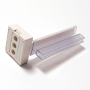 FLEXIBLE SUPER GRIPPER, 75 MM LENGTH, WITH MAGNET AND CLICK ADAPTOR, FOR 2 MM PRINT THICKNESS