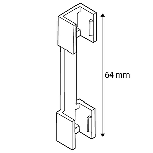 FRAME CONNECTOR, 64 MM LENGTH, FOR FRAMES SERIES 1