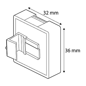 MAGNETIC FASTENER SQUARE, PARALLEL, 36X32 MM, FOR FRAMES SERIES 1