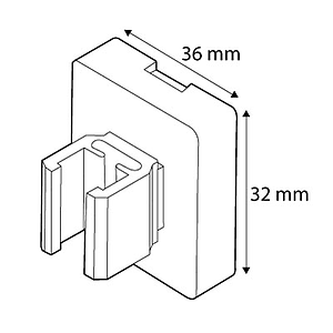 MAGNETIC FASTENER SQUARE, 36X32 MM, FOR FRAMES SERIES 2, 5,6 KG MAGNETIC FORCE