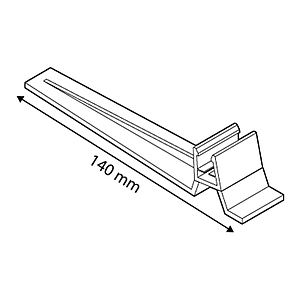 FRAME BASE SUPPORT, 15 G INCLINED, FOR FRAMES SERIES 1, 140 MM LENGTH