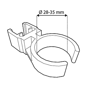 TUBE CLIP FOR FRAMES SERIES 1, FIXING ON D 28-35 MM