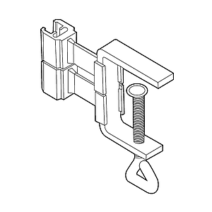 FLEXIBLE CLIP WITH G-CLAMP, 1-40 MM MATERIAL THICKNESS, FOR FRAMES SERIES 100