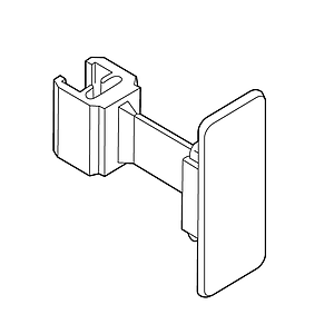 FLEXIBLE CLIP WITH ADHESIVE, FOR FRAMES SERIES 1