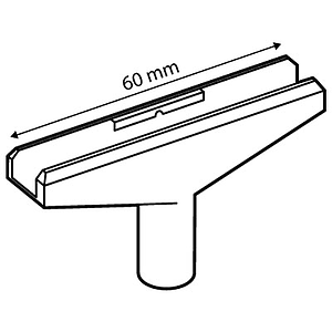 T-PIECE, 60 MM, FOR A6-A5 FRAMES AND 10 MM D TUBES